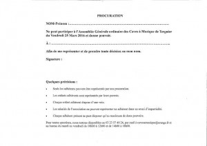 Copie de Procuration